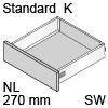 TBX antaro Standard K Bausatz NL 270 mm, seidenweiß antaro Set K - 270 / 115 mm, SW