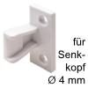 Plattenteil Keku AS zum Schrauben mit Senkkopf Ø 4 mm, W Plattenteil Keku AS f. Hospa 4 mm, weiß