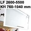 Klappenbeschlag AVENTOS HF schmal HF LF 2600-5500/KH 760-1040 mm