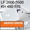 Klappenhalter AVENTOS HF Servo-Drive - LF 2600-5500 / KH 480-570 mm Aventos HF SD - LF 2600-5500 / 480-570 mm