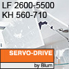 Klappenhalter AVENTOS HF Servo-Drive - LF 2600-5500 / KH 560-710 mm Aventos HF SD - LF 2600-5500 / 560-710 mm