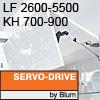 Klappenhalter AVENTOS HF Servo-Drive - LF 2600-5500 / KH 700-900 mm Aventos HF SD - LF 2600-5500 / 700-900 mm