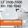 Klappenhalter AVENTOS HF Servo-Drive - LF 2600-5500 / KH 760-1040 mm Aventos HF SD - LF 2600-5500 / 760-1040 mm