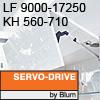Klappenhalter AVENTOS HF Servo-Drive - LF 9000-17250 / KH 560-710 mm Aventos HF SD - LF 9000-17250 / 560-710 mm