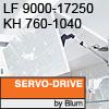 Klappenhalter AVENTOS HF Servo-Drive - LF 9000-17250 / KH 760-1040 mm Aventos HF SD - LF 9000-17250 / 760-1040 mm