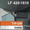 AVENTOS HK Klappenbeschlag tiefgrau f. Tip-On - LF 420-1610 HK-Set, LF 420-1610 alt 20K2300T -> neu 22K2300T