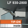 Klappenhalter AVENTOS HK li./re. weiß f. Tip-On - LF 930-2800 HK-Set weiß, LF 930-2800 alt 20K2500T -> neu 22K2500T
