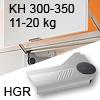 Klappenlift AVENTOS HL, KH 300-350 mm / 11-20 kg - grau Aventos HL Set - 300-350/11-20 kg - Kappen - HGR