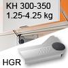 Klappenlift AVENTOS HL, KH 300-350 mm / 1,25-4,25 kg - grau Aventos HL Set - 300-350/1,25-4,25 kg - Kappen HGR