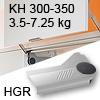 Klappenlift AVENTOS HL, KH 300-350 mm / 3,5-7,25 kg - grau Aventos HL Set - 300-350/3,5-7,25 kg - Kappen - HGR
