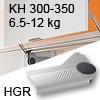 Klappenlift AVENTOS HL, KH 300-350 mm / 6,5-12 kg - grau Aventos HL Set - 300-350/6,5-12 kg - Kappen - HGR