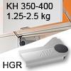 Klappenlift AVENTOS HL, KH 350-400 mm / 1,25-2,5 kg - grau Aventos HL Set - 350-400/1,25-2,5 kg - Kappen HGR