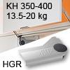Klappenlift AVENTOS HL, KH 350-400 mm / 13,5-20 kg - grau Aventos HL Set - 350-400/13,5-20 kg - Kappen - HGR
