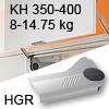 Klappenlift AVENTOS HL, KH 350-400 mm / 8-14,75 kg - grau Aventos HL Set - 350-400/8-14,75 kg - Kappen - HGR