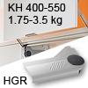 Klappenlift AVENTOS HL, KH 400-550 mm / 1,75-3,5 kg - grau Aventos HL Set - 400-550/1,75-3,5 kg - Kappen - HGR