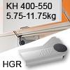 Klappenlift AVENTOS HL, KH 400-550 mm / 5,75-11,75 kg - grau Aventos HL Set - 400-550/5,75-11,75 kg - Kappen - HGR