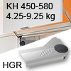 Klappenlift AVENTOS HL, KH 450-580 mm / 4,25-9,25 kg - grau Aventos HL Set - 450-580/4,25-9,25 kg - Kappen - HGR
