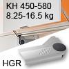 Klappenlift AVENTOS HL, KH 450-580 mm / 8,25-16,5 kg - grau Aventos HL Set - 450-580/8,25-16,5 kg - Kappen - HGR
