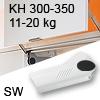 Hochliftklappe AVENTOS HL, KH 300-350 mm / 11-20 kg - weiß Aventos HL Set - 300-350/11-20 kg - Kappen - SW