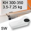 Hochliftklappe AVENTOS HL, KH 300-350 mm / 3,5-7,25 kg - weiß Aventos HL Set - 300-350/3,5-7,25 kg - Kappen - SW