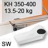 Hochliftklappe AVENTOS HL, KH 350-400 mm / 13,5-20 kg - weiß Aventos HL Set - 350-400/13,5-20 kg - Kappen - SW