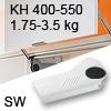 Hochliftklappe AVENTOS HL, KH 400-550 mm / 1,75-3,5 kg - weiß Aventos HL Set - 400-550/1,75-3,5 kg - Kappen - SW