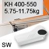 Hochliftklappe AVENTOS HL, KH 400-550 mm / 5,75-11,75 kg - weiß Aventos HL Set - 400-550/5,75-11,75 kg - Kappen - SW