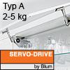 Klappenhalter AVENTOS HS Servo-Drive Set - Typ A Aventos HS SD, A Kraftspeicher - 350-525 mm / 2-5 kg