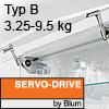Klappenhalter AVENTOS HS Servo-Drive Set - Typ B Aventos HS SD, B Kraftspeicher - 350-525 mm / 3,25-9,5 kg