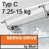 Klappenhalter AVENTOS HS Servo-Drive Set - Typ C Aventos HS SD, C Kraftspeicher - 350-525 mm / 7,25-15 kg