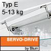 Klappenhalter AVENTOS HS Servo-Drive Set - Typ E Aventos HS SD, E Kraftspeicher - 526-675 mm / 5-13 kg