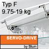Klappenhalter AVENTOS HS Servo-Drive Set - Typ F Aventos HS SD, F Kraftspeicher - 526-675 mm / 9,75-19 kg