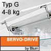Klappenhalter AVENTOS HS Servo-Drive Set - Typ G Aventos HS SD, G Kraftspeicher - 676-800 mm / 4-8 kg