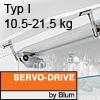 Klappenhalter AVENTOS HS Servo-Drive Set - Typ I Aventos HS SD, I Kraftspeicher - 676-800 mm / 10,5-21,5 kg