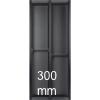 Besteckeinsatz cuisio für Schubladen-Innenbreite 195-220 mm, schwarz cuisio - schwarz für 300 mm Schrankbreite