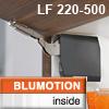 20K2B00.06 AVENTOS HK-S Klappenhalter + Blumotion, tiefgrau HK-S Set LF 220-500 alt 20K2B00.02 -> 20K2B00.06