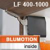 20K2C00.06 AVENTOS HK-S Klappenhalter + Blumotion, tiefgrau HK-S Set LF 400-1000 alt 20K2C00.02 -> 20K2C00.06