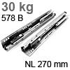 578.2701B Tandembox Korpusschiene plus Blumotion gedämpft 30 kg / 270 mm / 558.270 -> 578.270