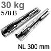 578.3001B Tandembox Korpusschiene plus Blumotion gedämpft 30 kg / 300 mm / 558.300 -> 578.300
