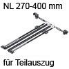 Seitenstabilisierung TANDEM Teilauszug NL 270-400 mm ZST.410TT Set Seitenstab. 270-400