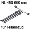 Seitenstabilisierung TANDEM Teilauszug NL 450-650 mm ZST.650TT Set Seitenstab. 450-650
