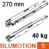 750.2701S LEGRABOX Korpusschiene BLUMOTION S, 40 kg LBX Schienen Blumotion S, 40 kg / NL 270 mm