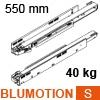 750.5501S LEGRABOX Korpusschiene BLUMOTION S, 40 kg LBX Schienen Blumotion S, 40 kg / NL 550 mm