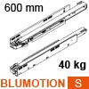 750.6001S LEGRABOX Korpusschiene BLUMOTION S, 40 kg LBX Schienen Blumotion S, 40 kg / NL 600 mm