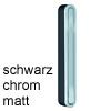 Mini-Garderobe CANOA schwarz / chrom matt Wandhaken pieperconcept Can. schw./matt