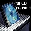 Aluminium-Profil für CD, 11-reihig silber B 3000 mm Profil Alu silber 3000 mm f. CD