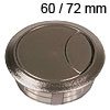 Kunststoff-Kabeldurchlass matt chrom 60/72 mm Kabeldurchlass Kunststoff matt chrom 60/72 mm
