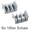 cuisio-Messereinsatz für 100er/150er Schale, hellgrau cuisio Messerblock 100er Schale / 3 Messer
