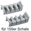 cuisio-Messereinsatz für 100er/150er Schale, hellgrau Messerblock 150er cuisio Schale / 4 Messer