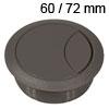 Kunststoff-Kabeldurchlass dunkelgrau 60/72 mm Kabeldurchlass Kunststoff dunkel grau 60/72 mm